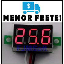 Mini Voltímetro Led Digital Medidor Bateria Vermelho Remote