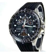 Relógio Citizen Masculino Eco Drive Skyhawk Jy0001-00e