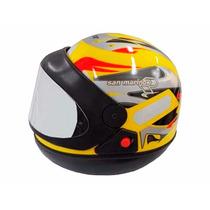 Capacete Taurus San Marino Grafic Automático Amarelo 60