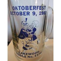 Tarro Cerveza Oktoberfest Lakewood Lodge Souvenir 1982 Beer