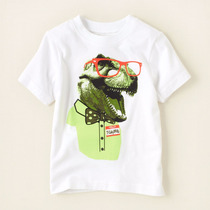Playera Childrens Place, Tela Algodon Niño 12 - 18 Meses