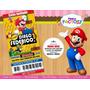 Mario Bros Mb001 - Invitacion Digital Imprimible Y Whatsapp