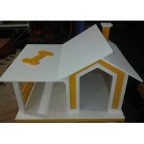 **preciosa Casa Para Perro Con Terraza. Artesanal**