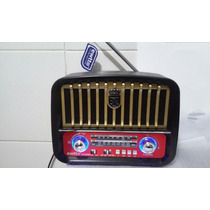 Radio Retrô Modelo Antigo C/ Usb, Sd E Bluetooth