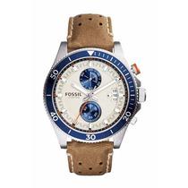 Reloj Fossil Wakefield Ch2951 Cronografo Correa Cuero