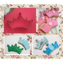Cortante Corona Galletitas Torta Cupcakes Souvenir Porcelana