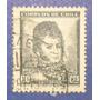Estampilla Stamp Bernardo O´higgins 60 Cts Chile Antigua