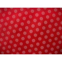 Tnt Poá - Estampado Vermelho C/ Bolinhas Brancas - 10 Metros