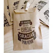Bolsas Papel Kraft Madera / Blancas Personalizadas