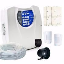Kit Alarme Residencial Com Discadora + 4 Setores +6 Sen. Ka2