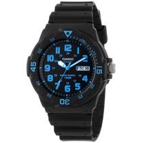 Relojes Casio Estandar Mrw200h-2b Analogo Fecha Y Día Wr100m