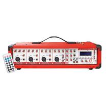 Mezcladora Amplificada 4 Canales 800 W Pmpo Usb Sd Dj Disco