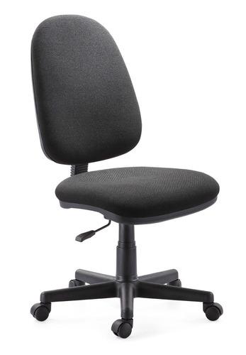 Silla red alto fija negro asiento en poliuretano mmu for Asiento silla oficina