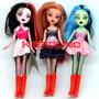 Monster High Muñecas X 3 Draculaura, Frankie, Clawdeen Wolf