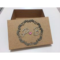 Caixa Personalizada Lembrança Para Padrinhos De Casamento