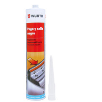 Sellador De Poliuretano Cartucho 310ml Negro Wurth