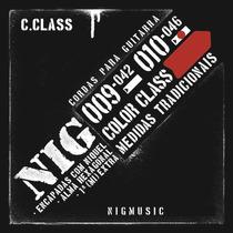 N1641 Cordas P Guitarra Nig Color Vermelho 010 Encordoamento