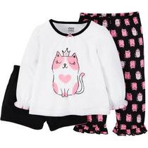 Pijama Blusa Pantalón Shorts Carters Talla 3 Envio Gratis