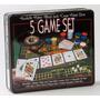 Set De Ruleta Poker Dados 5 En 1 En Caja Metalica Con Naipes