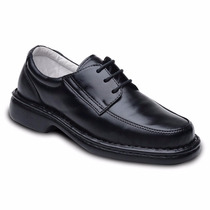 Sapato Social Masculino Anti Stress Amarrar Ind Diabético