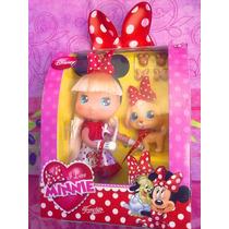 Disney Minnie Mouse Munequita Con Mascota Modelo 3