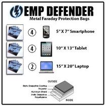 Jaula De Faraday Emp Esd Bolsas Kit Completo 10pc Survivalis
