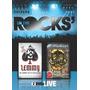 Motorhead + Lemmy Coleção On The Rocks Box Com 2 Dvds Raros!