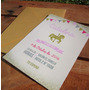 Tarjetas Invitaciones Cumpleaños Carrousel