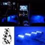 Kit Luces Led Interior Azul 12 Volt 4 Und.x 6 Ctms