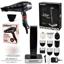 Secador Pelo Profesional + Maquina Corte Silver Teknikpro