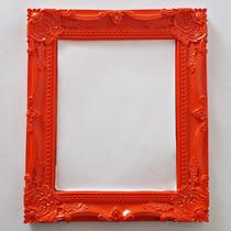 Moldura Resina Pintada Provençal Com Espelho 20 Cm X 15 Cm