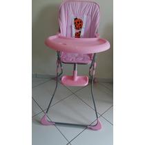 Cadeira Alim Bebê Angel Rosa (novo)- Pequenas Marcas Bandeja