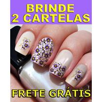 Kit 12 Cartelas + 2 Brindes 168 Adesivos Películas De Unhas