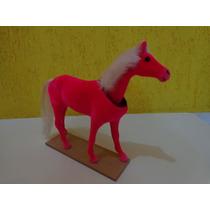Cavalinho Flocado Brinquedo Que Balança A Cabeça Rosa