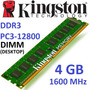 Memoria Ram Kingston Ddr3 4gb 1600mhz Pc3-12800 Dimm 240 Pin
