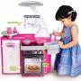 Cozinha Infantil Classic Fogão Forno Geladeira Pia Sai Água
