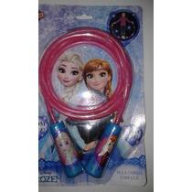 Corda De Pular Infantil Frozen Azul Com Luz Led Disney Toyng