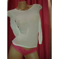 Camiseta Mangas Largas Segunda Piel Sexy Divina!! Lycra!!