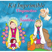 Kit Imprimible Virgencitas Y Santitos - Invitaciones Cards M