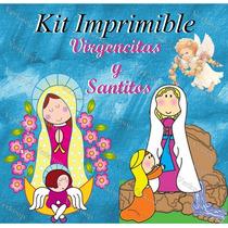 2x1 Kit Imprimible Virgencitas Y Santitos - Invitaciones