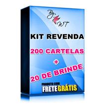 200 Cartelas + 20 De Brinde Adesivo Películas Para Unha