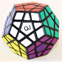 Cubo Mágico Profissional Megaminx Qj Black