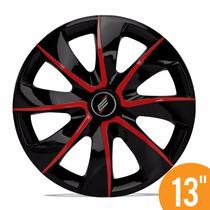 Jg Calota Esportiva 13 Pri Preta Red Fiat Ford Gm Renault Vw