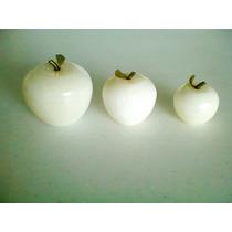 Manzanas Onix Juego De 3 Pza Decoracion
