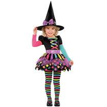 Disfraz Bruja Niña Halloween Vestido Brujita De Colores