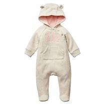 Macacão Baby Gap Capuz De Ursinho Rn Recém Nascido Enxoval