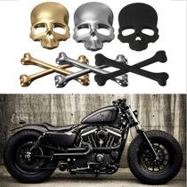 Adesivo Tunning Liga De Metal Caveira Cool