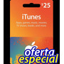 Itunes $25 Gift Card Iphone Ipad Ipod Tarjeta Itunes Store