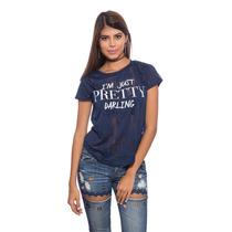 Franela Azul Just Pretty Darling Saints Clothes