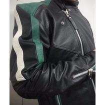 Jaqueta Motoqueiro De Couro Legítimo Masculina -várias Cores